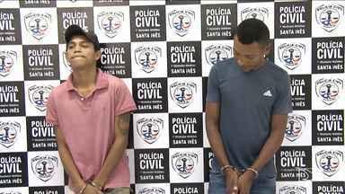 Suspeitos de homicídio são presos em Santa Inês - Dois homens suspeitos de cometerem um homicídio em que a vítima foi decapitada foram presos em Santa Inês.