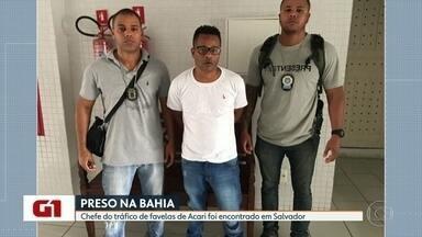 Chefe do tráfico de favelas de Acari é preso em Salvador - O criminoso, conhecido como Crânio, deve ser transferido para o Rio de Janeiro.
