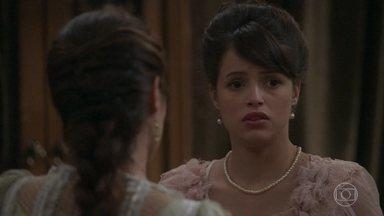 Cecília conta a Ema sobre o envolvimento entre Edmundo e Fani - Ema fica agoniada com a notícia