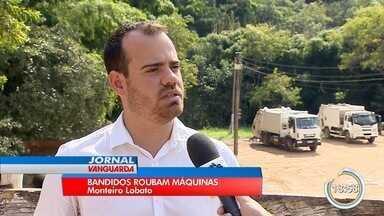Polícia recupera máquinas agrícolas roubadas da Prefeitura de Monteiro Lobato - Os produtos foram encontrados no começo da tarde desta quarta-feira (13) na propriedade no bairro Pagador Andrade em Jacareí; um homem foi detido e levado à delegacia.