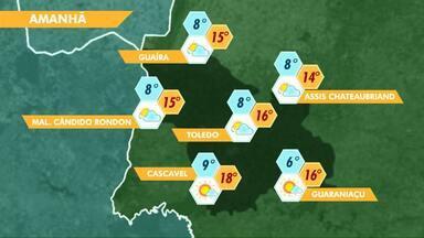 Massa de ar polar traz frio de volta ao Paraná - Amanhã a previsão é de mínima de 6 graus para Guaraniaçu.