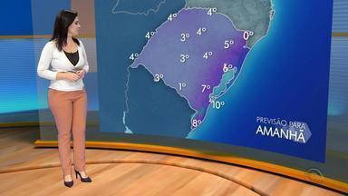 Tempo: quinta-feira (14) deve ter temperaturas ainda mais baixas no RS - Assista ao vídeo.