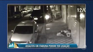 Câmera de segurança registra momento que dois homens praticam assalto em Itabuna - A Polícia está investigando o caso, ainda não recuperou a moto roubada e nem identificou os suspeitos.