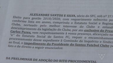 Novo pedido de impeachment é protocolado contra o presidente do Santos FC - Segunda denúncia contra José Carlos Peres ocorreu nesta quarta-feira.