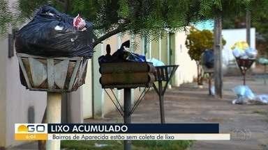 Problemas com coleta de lixo voltam a preocupar moradores de Aparecida de Goiânia - Tem bairro em que o caminhão de coleta não passa há duas semanas e lixeiras estão cheias de sacolas.