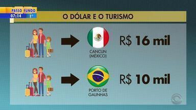Alta no dólar muda planos de quem quer viajar para o exterior - Situação faz com que os viajantes busquem destinos nacionais.