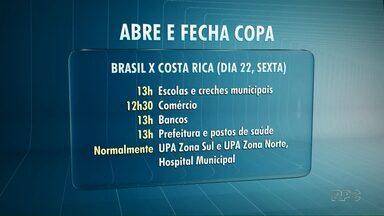Veja o que abre e fecha durante os jogos do Brasil na Copa do Mundo - Vários serviços terão o horário alterado por causa dos jogos da Copa