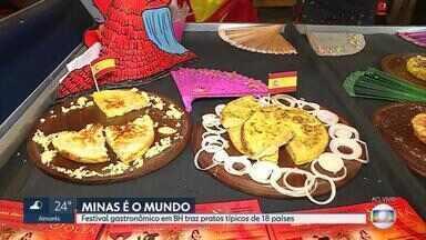Feira em BH tem comidas típicas de diversos países - Evento vai até sábado