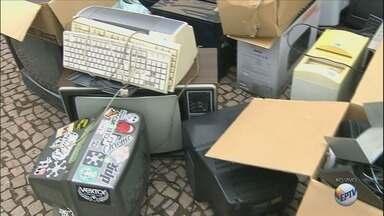 Projeto que recolhe lixo eletrônico passa por cidades no Sul de MG - Projeto que recolhe lixo eletrônico passa por cidades no Sul de MG