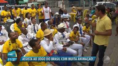 É Copa: veja locais para assistir o jogo do Brasil nesse domingo (17) - Brasil estreia contra a Suíça; confira os detalhes.