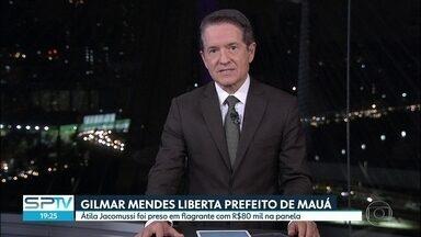 Gilmar Mendes liberta prefeito de Mauá - O ministro Gilmar Mendes, do Supremo Tribunal Federal, mandou libertar o prefeito de Mauá, Atila César Monteiro, do PSB, que está há mais de um mês na cadeia.