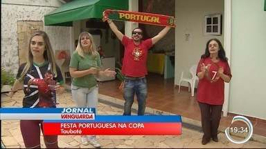 Família de Taubaté aproveita a Copa para reunir todo mundo - Por lá tem festa portuguesa.