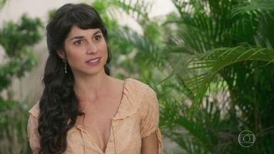 Mariana quase flagra Josephine com Brandão - O Coronel se choca com a volta de Josephine e ela promete lhe explicar tudo