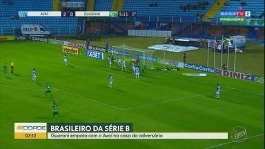 Guarani empata fora de casa com o Avaí - Confira os seis gols da partida em Florianópolis.