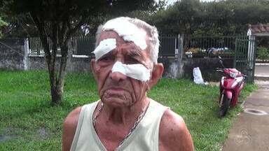 Idoso de 89 anos acusa filha e genro de espancamento - Agressões aconteceram na casa do idoso.