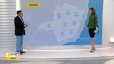 Não há previsão de chegada de forte massa polar durante o inverno em Minas Gerais - Veja a entrevista com o meteorologista Ruibran dos Reis.