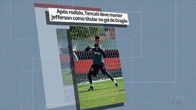 Após rodízio, técnico deve manter Jefferson como goleiro titular do Atlético - Durante os últimos jogos, Tencati alternou o goleiro que entrou em campo como titular.