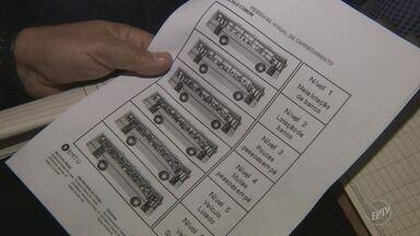 EMTU fiscaliza linhas de ônibus da região de Campinas; empresa aplicou 758 multas - Os dados da fiscalização das linhas de Sumaré (SP) ainda serão analisados. Equipe da EPTV encontrou mais reclamações de passageiros durante a fiscalização.