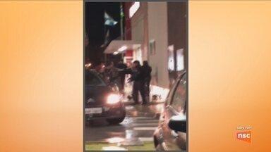Polícia Civil prende suspeito de matar homem em lanchonete de Balneário Camboriú - Polícia Civil prende suspeito de matar homem em lanchonete de Balneário Camboriú