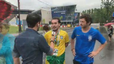 'Tô na Rússia': torcedores falam das expectativas para jogo de Brasil e Costa Rica - Partida ocorre na sexta (22), às 9h.