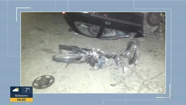 Motorista com suspeita de embriaguez é preso após acidente na MG-424, na Grande BH - Segundo a PM, um motociclista morreu na batida perto de Prudente de Morais.