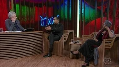 Áurea Martins e Elymar Santos falam sobre suas influências musicais - Elymar explica que seu gosto é muito eclético