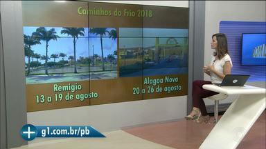 Programação completa do Caminhos do Frio 2018 é divulgada, no Brejo da Paraíba - Rota cultural tem shows de Jorge Vercillo, Santanna, Cezzinha, Waldonys, Cavaleiros do Forró, Niedson Lua, Os Gonzagas e Val Donato.