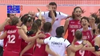 Melhores momentos de Brasil 0 x 3 Turquia pela semifinal da Liga das Nações