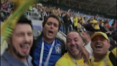 Correspondente da EPTV se despede da Copa junto com torcedores na Rússia - Correspondente da EPTV se despede da Copa junto com torcedores na Rússia