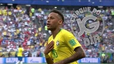 Neymar é o destaque do álbum do JG - Como é segunda-feira, é dia de colar três figurinhas de uma vez. Demorou, mas chegou a vez do Neymar.