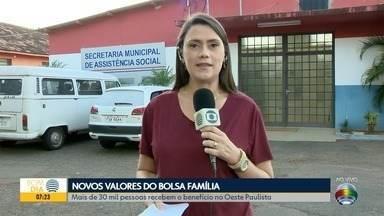 Valor do Bolsa Família sofre reajuste a partir de julho - Mais de 30 mil famílias no Oeste Paulista são beneficiárias.