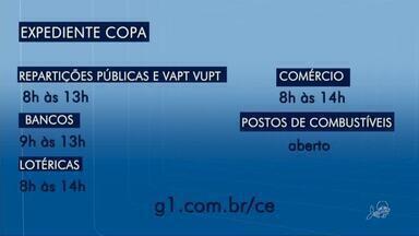 Entenda o que abre e o que fecha no Cariri em dia de jogo do Brasil na copa do mundo - Saiba mais em g1.com.br/ce