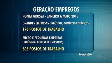 Micro e pequenas empresas estão empregando mais em Ponta Grossa - Segundo dados do CAGED, de janeiro a maio de 2018, as micro e pequenas empresas criaram 605 postos de trabalho.