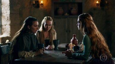 Selena, Amália e Diana bolam um plano para encontrar Virgílio - Elas pretendem encontrar Virgílio secretamente para que Otávio não as veja