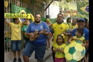 Torcida está empolgada com o jogo do Brasil contram a Bélgica - A seleção entra em campo para o jogo válido pelas quartas de final da Copa do Mundo.
