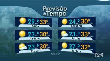 Veja as variações das temperaturas no Maranhão - Sexta-feira (6) será de sol entre nuvens no estado com nebulosidade variando no litoral.