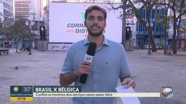 Telão no Centro de Campinas tansmite jogo do Brasil nas quartas de final da Copa - Milhares de pessoas estão assistindo os jogos do mundial.