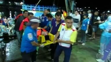 Naufrágio na Tailândia deixa dezenas de mortos - Barco com mais de 100 turistas naufragou perto da ilha de Pukhet. Vinte e sete pessoas morreram e outras 29 estão desaparecidas.
