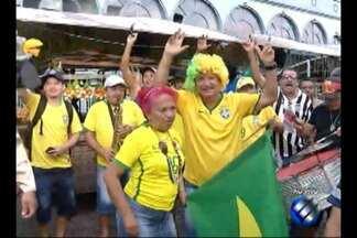 Paraenses programaram festa para torcer pelo Brasil na Copa - Paraenses programaram festa para torcer pelo Brasil na Copa