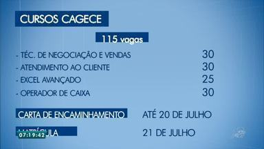 Cagece abre vagas para cursos de qualificação - Saiba mais em g1.com.br/ce