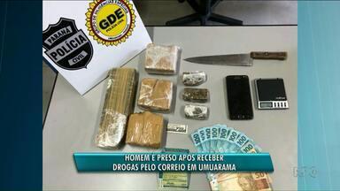 Homem é preso após receber drogas pelos Correios em Umuarama - Ele já vinha sendo monitorado pela polícia.
