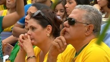 Em Juazeiro do Norte, torcida se prepara para ver jogo, mas se decepciona com o resultado - Confira mais notícias em g1.globo.com/ce