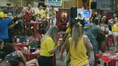 Torcedores de Cachoeiro, no Sul do ES, acompanharam a derrota do Brasil na Copa - Bélgica venceu a seleção brasileira por 2 a 1.