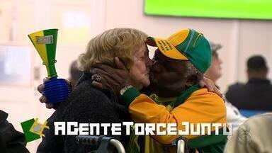 Moradores do Asilo Padre Cacique acompanham Brasil x Bélgica - Esperança seguiu até o último minuto.