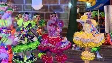 Sambódromo recebe final da etapa estadual do 'Arraiá no Meio do Mundo' - Festival de dança encerrou no sábado (7). Grupos Revelação, Simpatia da Juventude e Sorriso Cristalino empataram em primeiro lugar.