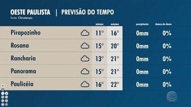 Confira a previsão do tempo - Veja como ficam as temperaturas.