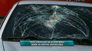 Idoso atropelado na av. Brasil morre no hospital - O idoso de 78 anos atravessava a avenida quando foi atingido por um carro.