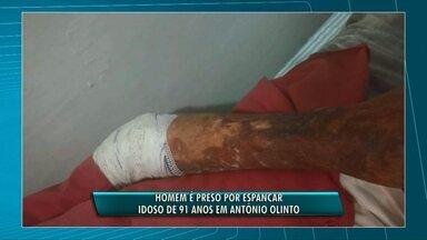 Homem é preso suspeito de espancar idoso de 91 anos, nos Campos Gerais - O crime teria sido na zona rural de Antônio Olinto.