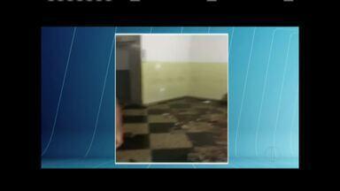 Estrutura da Delegacia Regional de Governador Valadares preocupa moradores - Parte o teto desabou na última sexta-feira.