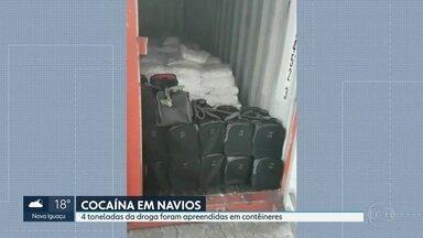 15 pessoas foram presas no Rio por tráfico internacional de cocaína - A droga era exportada em contêineres. Iam por navio para portos da Europa, Asia e África. Foram 15 meses de investigações. Neste tempo mais de 4 toneladas da droga foi apreendida.